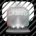 entertainment, game, hologram, holographic, league, legends, mobile icon