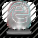 browser, edge, hologram, internet, microsoft, network, web icon