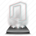 document, file, hologram, microsoft, office, tool, work icon