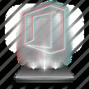 document, file, hologram, microsoft, office, tool, work icon