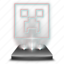 entertainment, game, gaming, hologram, minecraft icon