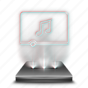 audio, hologram, media, multimedia, music, player, sound icon