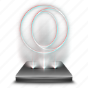 browser, hologram, holographic, internet, network, opera, web icon