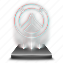 entertainment, game, hologram, holographic, overwatch, video icon