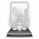 phonebook, business, contact, contacts, phone, smartphone, hologram icon