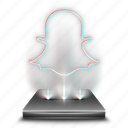 chat, hologram, instant, messaging, snapchat, talk icon