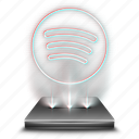 audio, hologram, media, music, song, spotify icon