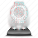citizen, entertainment, game, hologram, holographic, star icon