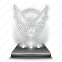 division, entertainment, game, hologram, video icon
