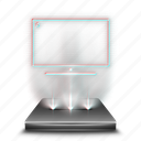 computer, device, hologram, holographic, mypc, pc, this icon