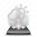 app, forecast, hologram, temperature, thermometer, weather icon