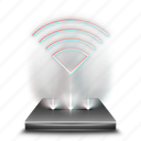 communication, hologram, internet, network, technology, wifi, wireless icon