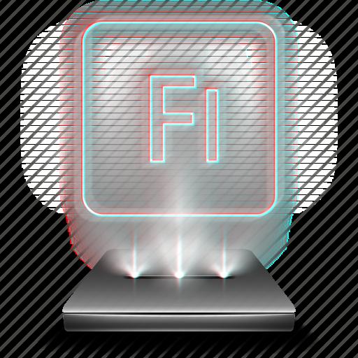 adobe, animation, design, flash, hologram, tool icon