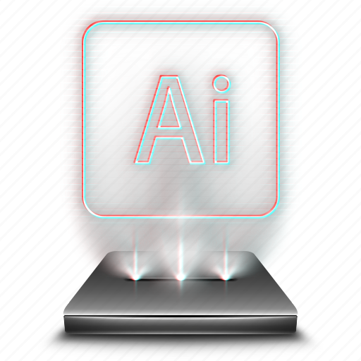 adobe, design, file, hologram, illustrator, tool icon