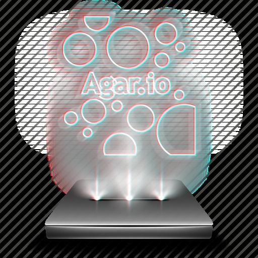 agar, agario, entertainment, game, hologram, mobile icon