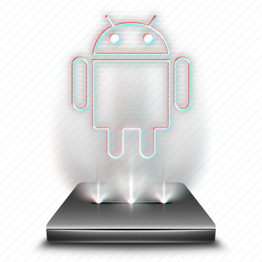 android, device, hologram, mobile, phone, smartphone icon
