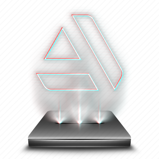 art, graphic, hologram, holographic, portal, social, station icon