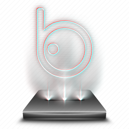 badoo, communication, connection, hologram, network, social icon