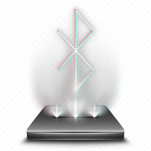 bluetooth, communication, connection, hologram, holographic, wireless icon