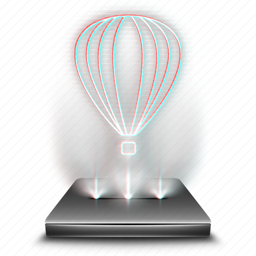 coreldraw, design, draw, graphic, hologram, holographic, tool icon