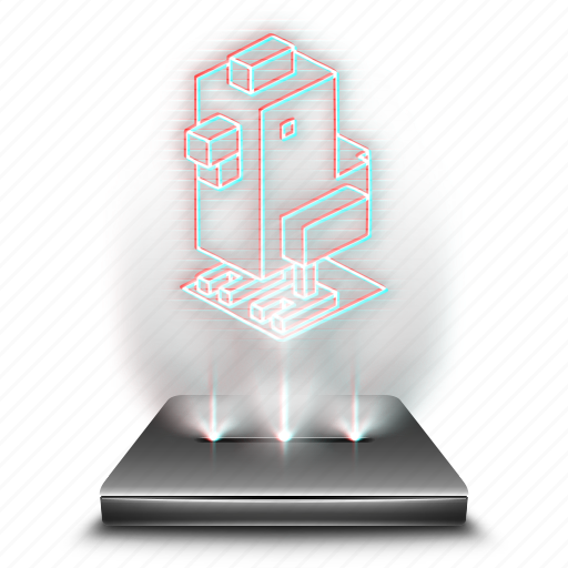 crossy, entertainment, game, hologram, mobile, road icon