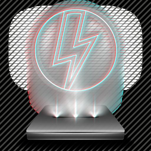 deamon, drive, hologram, tool, tools, vitrual icon