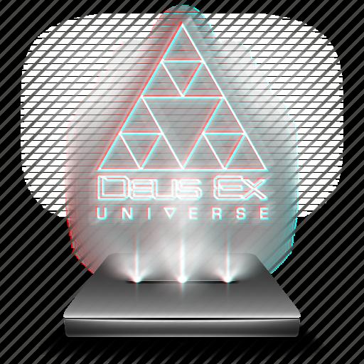 deus, ex, game, hologram, universe icon