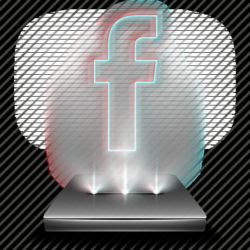 communication, face, facebook, hologram, network, social icon