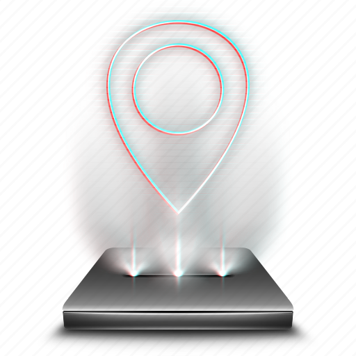 google, hologram, location, map, maps, navigation icon