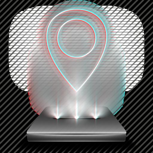 google, hologram, holographic, location, map, maps, navigation icon