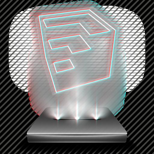 design, google, hologram, sketchup, tool icon
