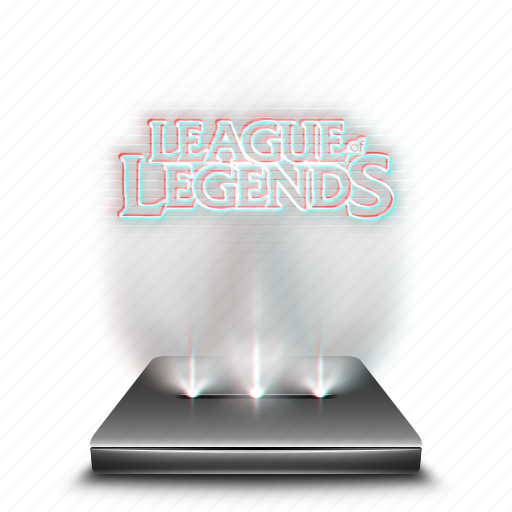 entertainment, game, hologram, league, legends, mobile icon
