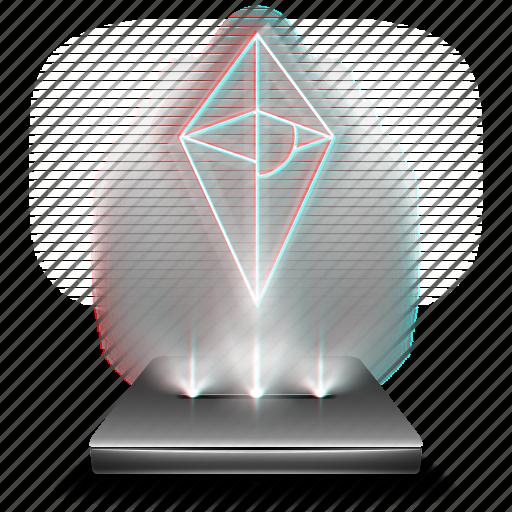 entertainment, game, hologram, mans, no, sky icon