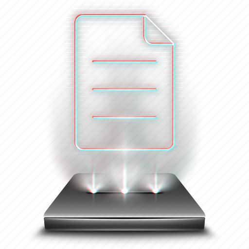 documents, file, hologram, note, notepad, notes, sheet icon