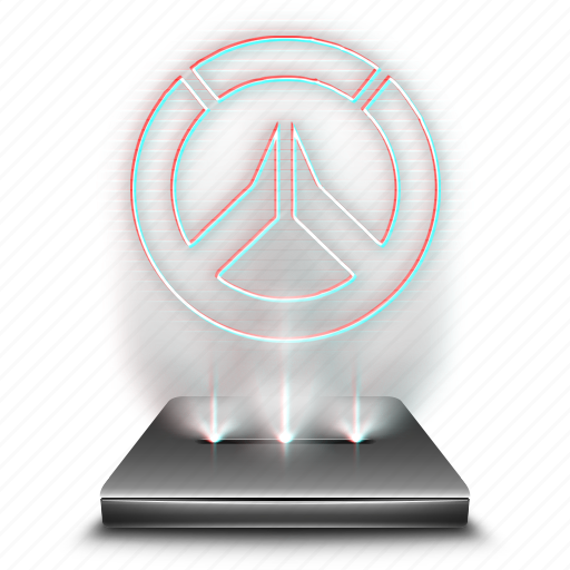 entertainment, game, hologram, overwatch, video icon