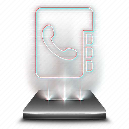 business, contact, contacts, hologram, phone, phonebook, smartphone icon