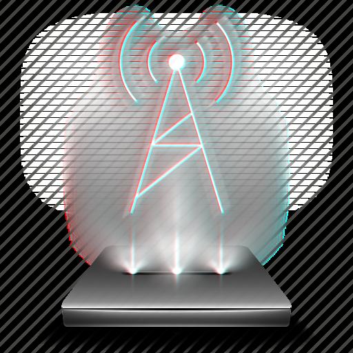antenna, fmam, hologram, radio, signal, signals icon