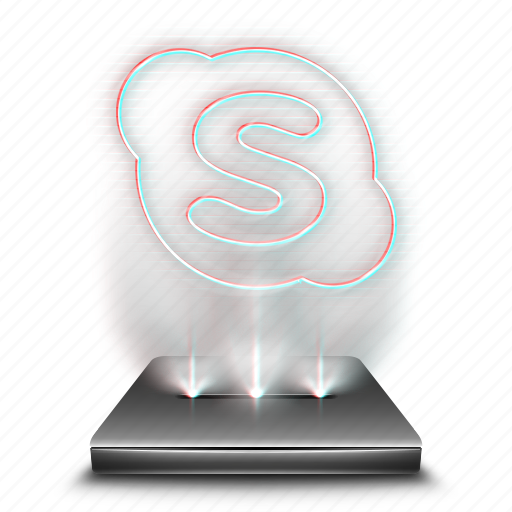 chat, communication, hologram, message, skype, talk icon