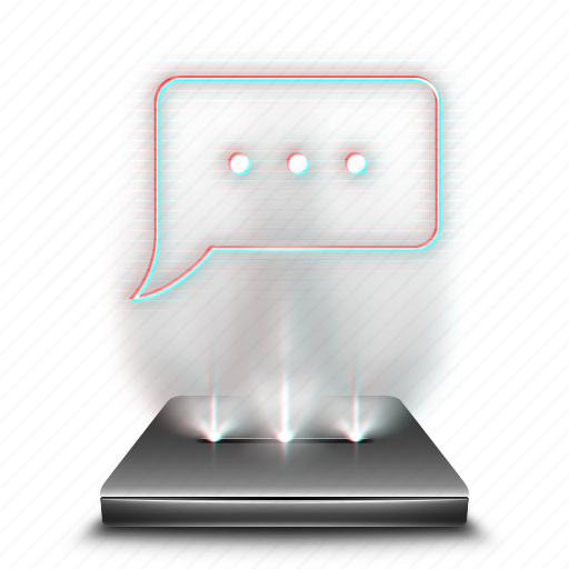 chat, communication, hologram, message, sms, talk icon