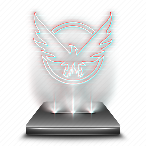 division, entertainment, game, hologram, holographic, video icon