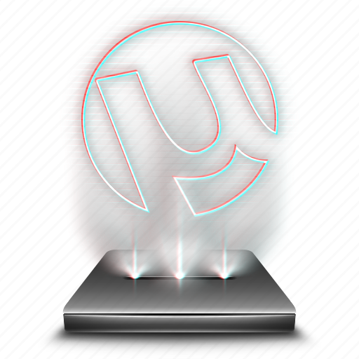 hologram, torrent, utorrent, web icon