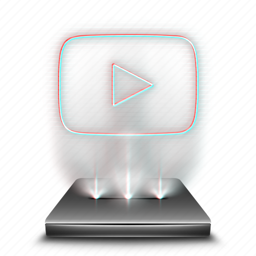 audio, hologram, media, share, social, video, youtube icon