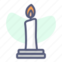 candle, christian, christianity, holy, religion icon