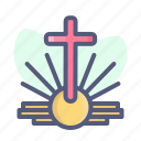 christian, christianity, cross, holy, light, religion icon