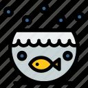 aquarium, fish, house icon