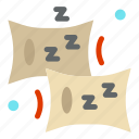 bedroom, comfort, pillow icon