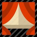 curtain, drapes, window icon