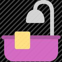 bathtub, home, hotel icon