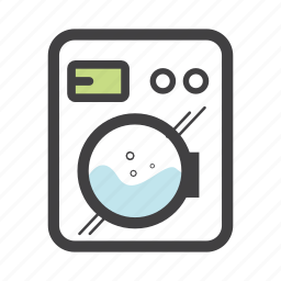 amenities, cloth, home, household, laundry, washing, washing machine icon
