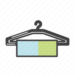 apparel, clothing, coat hanger, dress, fashion, hanger, stitching icon